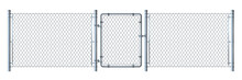 Realistic Metal Wire Fence And...