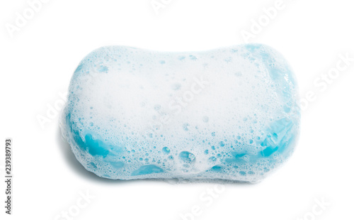 Valokuva  soap with foam isolated