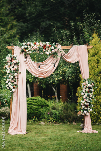 Arch for the wedding ceremony Wallpaper Mural