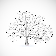 Abstract Futuristic Tree