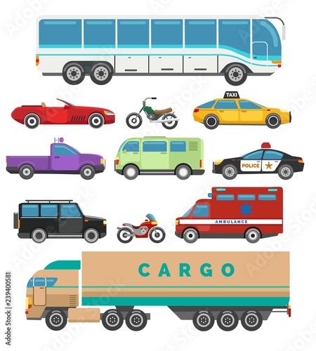Obraz na plátně Urban vehicle set