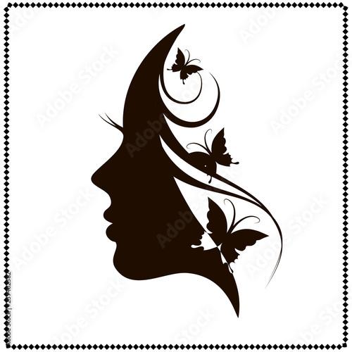 Plakaty do domu - mieszkania beautiful-female-face-silhouette-in-profile