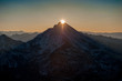 Sun rising behind the mountains