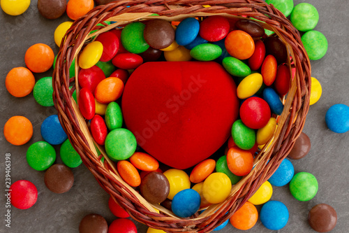 Fotografie, Obraz  The concept of candy and sweets for Valentine's Day