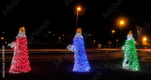 Fotografía Esculturas eléctricas de los Reyes Magos