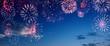 canvas print picture - Wunderschönes Feuerwerk