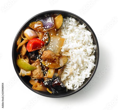 Fototapeta bowl of asian food obraz
