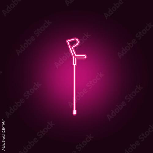 Fototapeta crutch icon