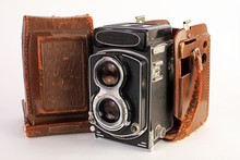 Antique Twin Lens Camera With ...
