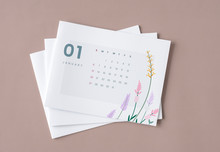 Floral Calendar Mockup