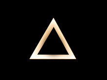 Abstract Warm Gold Triangle Lo...