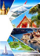 Travel Collage. Different Dest...