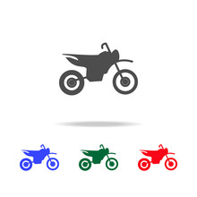 Motorcycle  Icons. Elements Of...