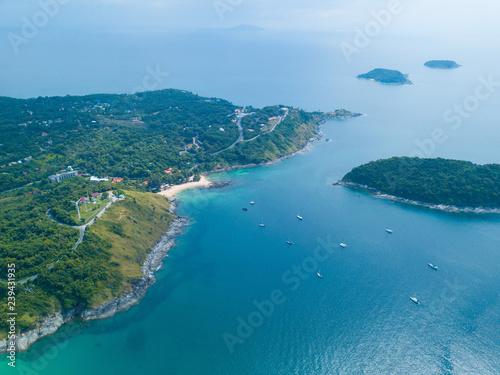 Cadres-photo bureau Caraibes Aerial view of Nai Harn beach Phuket