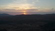Drone flying during the sunset in Fuerteventura