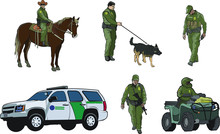 Border Patrol Vector Set