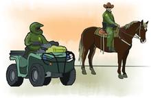 Border Patrol – Horseback Agent And ATV