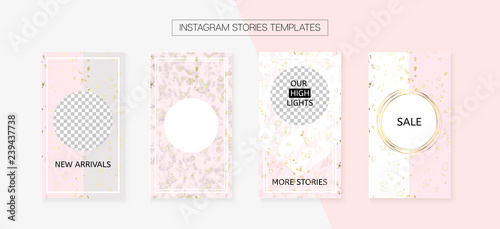 Instagram Stories Cool Vector Layout  Invitation Phone