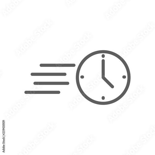 Valokuva  Trendy thin line fast clock icon