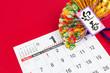 1月 カレンダー 正月 元旦 新年 イメージ