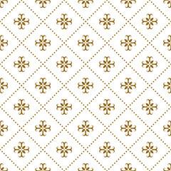 Panel Szklany Do kawiarni vintage luxury damask floral art pattern design
