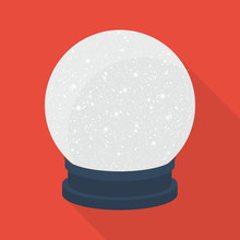 Snow Globe Icon In Flat Style ...