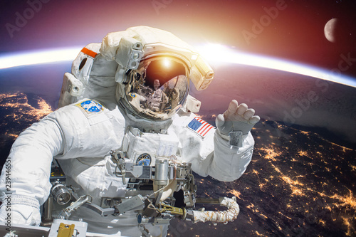 Planet Earth and astronaut