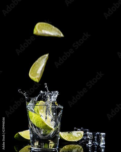 Canvas Print Mexican tequila splash
