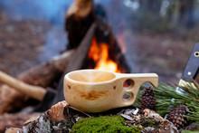 Wooden Finnish Mug, Called Kuk...
