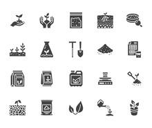 Soil Testing Flat Glyph Icons ...