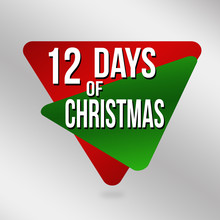 12 Days Of Christmas Label Or Sticker