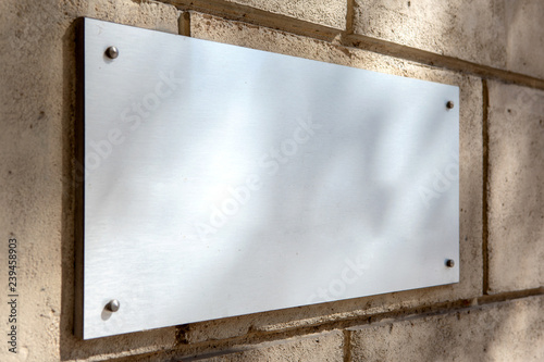 Mock up of a plate metal sign