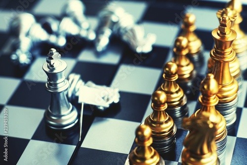 Chess board game, business competitive concept, strong financial capital advanta Canvas-taulu
