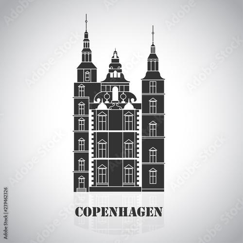 Photo  Copenhagen Denmark, Nordic capital. Old european city