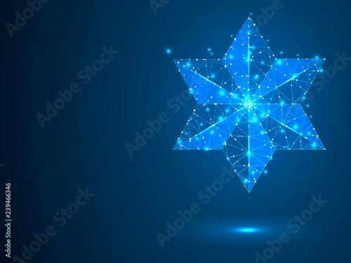 Fotografie, Obraz  Big, bold Volumetric star with six rays
