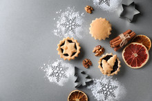 Composition With Tasty Mince Pies On Table