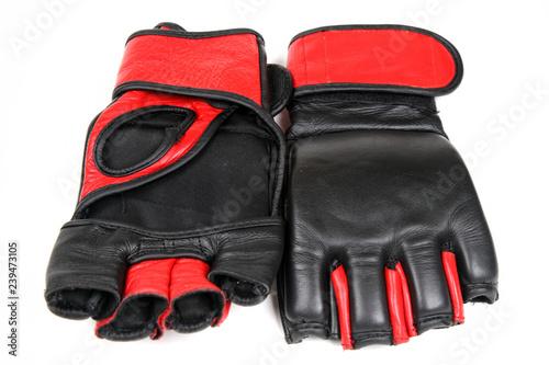 Fotografia  MMA gloves isolated on white