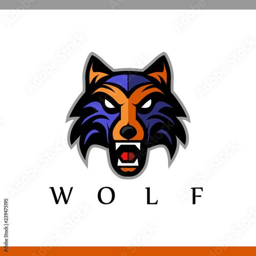 Photo Growling wolf logo
