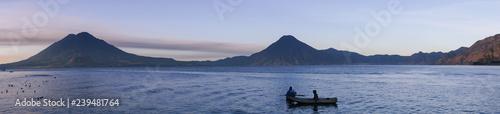 Fotografie, Obraz Panorama du Lac Atitlán, Guatemala
