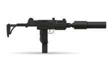Submachine Machine Hand Gun We...