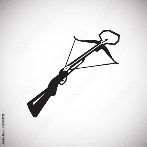 Cuadros en Lienzo Crossbow icon on white background for graphic and web design, Modern simple vector sign