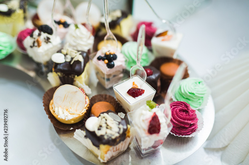 Poster Buffet with a variety of delicious sweets, food ideas, celebration