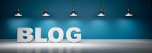 Blog Vor Blaugrüner Wand Mit ...