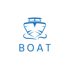 Abstract Motor Boat Vector Design Template
