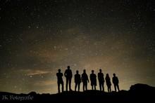 Menschen Vor Sternenhimmel