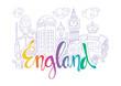 Hand Drawn Symbols Of England.