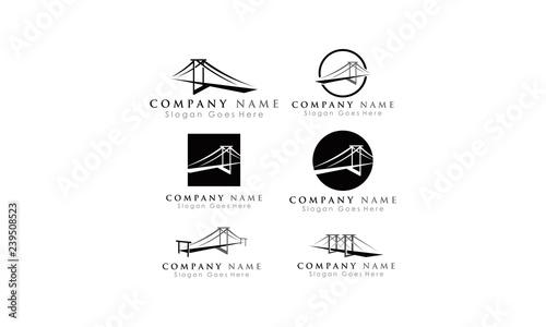 Valokuva  set template bridge vector logo