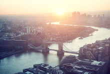 Sunrise, London Aerial View Wi...
