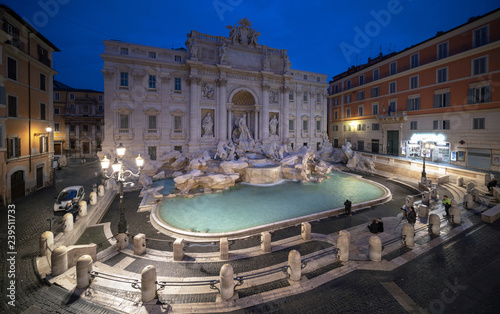 Aluminium Prints Rome Trevi fountain, Rome