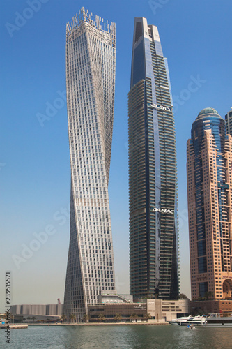Poster Middle East Cayan Tower and Damac Residenze